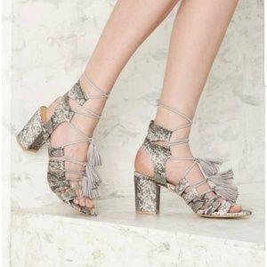 """Coconut Matisse """"Copa"""" Lace Up Tassel Sandal Sz 6M"""